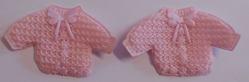 Decoratie baby jasje roze 2 stuks per zakje