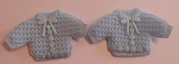 Decoratie baby jasje blauw 2 stuks per zakje