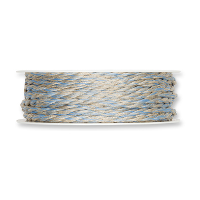 Koord blauw bruin 4 mm breed per meter