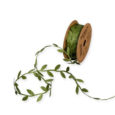 Satijn blaadjes groen ca. 1 meter per zakje