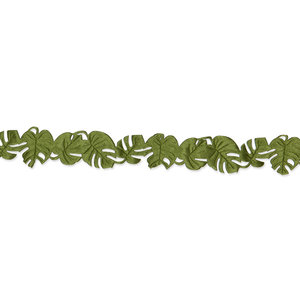 Satijnen monstera band donker groen ca. 1 meter per zakje