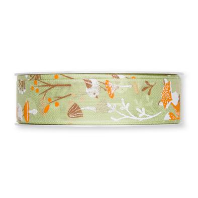 Lint herfst vos groen 25 mm breed ca. 1 meter per zakje