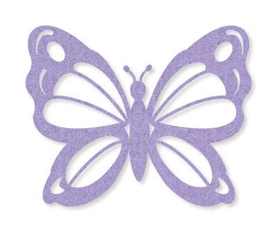 Vilt vlinders lila 4 stuks per zakje