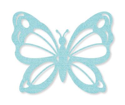 Vilt vlinders mint 4 stuks per zakje