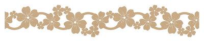 Vilt slinger bruin ca. 39 cm lang 4,5 cm breed per stuk