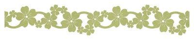 Vilt slinger fuchsia groen ca. 39 cm lang 4,5 cm breed per stuk