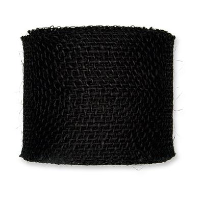 Jute zwart 8 cm breed lengte 50 cm per stuk