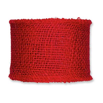 Jute rood 8 cm breed lengte 50 cm per stuk