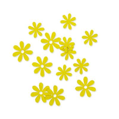 Vilt bloemetjes mini fel groen 10 stuks per zakje