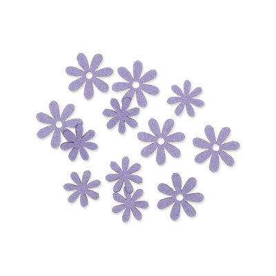 Vilt bloemetjes mini lila 10 stuks per zakje