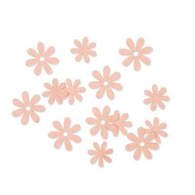 Vilt bloemetjes mini zalm 10 stuks per zakje