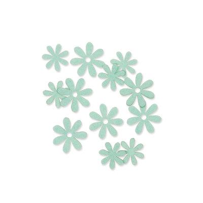 Vilt bloemetjes mini mint 10 stuks per zakje