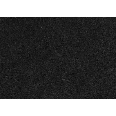 Budgetvilt, Zwart gemêleerd 20 x 30 cm