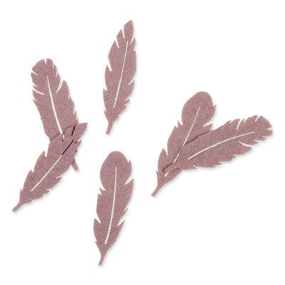 Vilt veren klein paars 8 stuks per zakje
