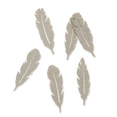 Vilt veren klein grijs 8 stuks per zakje