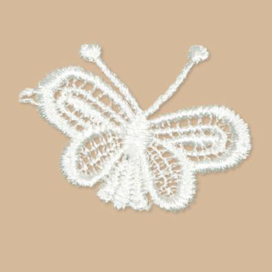 Kanten vlinder klein 5 stuks per zakje