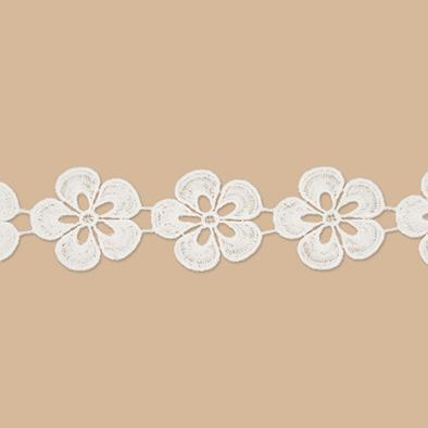 Kanten bloemen 5 stuks per zakje