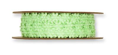 Satijnen mini bloemetjes band groen per meter