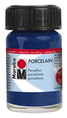 Marabu porseleinverf nachtblauw 15 ml