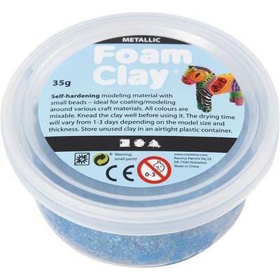 Foam clay blauw metallic 35 gram