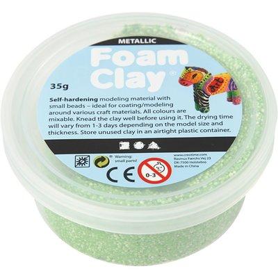 Foam clay groen metallic 35 gram