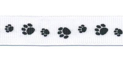 Lint pootjes zwart 16 mm breed per meter