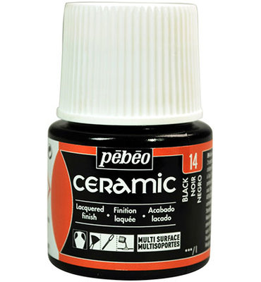 Pebeo Ceramic black 45 ml
