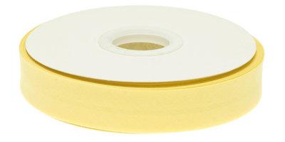 Biaisband gevouwen zacht geel 20 mm