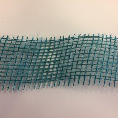 Jute turquoise 5 cm breed 1 meter lang per zak