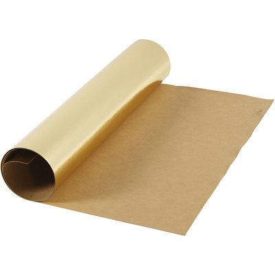Faux leather papier goud