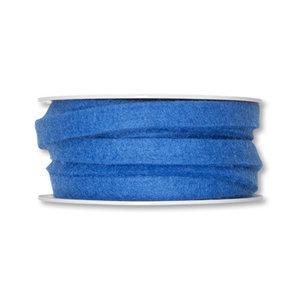 Vilt band 1 cm breed, Blauw, 5 meter op rol
