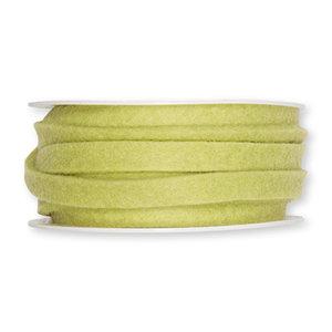 Vilt band 1 cm breed, Pastel Groen, 5 meter op rol