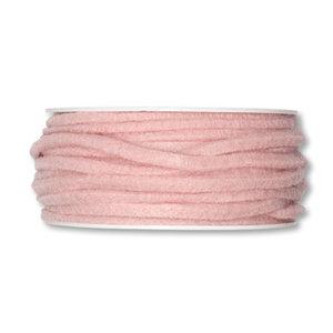 Vilt band 4 mm x 15 meter op rol, Pastel Roze