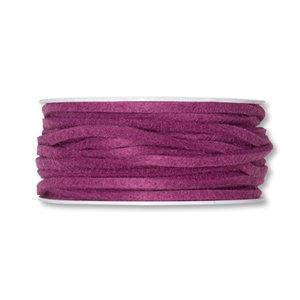 Vilt band 4mm x 15 meter op rol, Dusty Pink