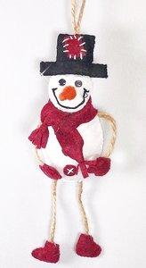 DIY pakket hanger Sneeuwpop Rood