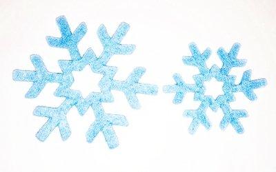 Vilt ijssterren Blauw 4 stuks per zakje