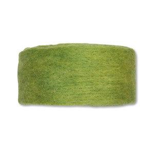 Wolband 7 cm breed fel groen