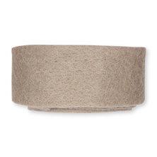 Wolband 7 cm breed beige per rol