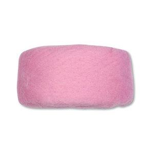 Wolband 7 cm breed licht roze