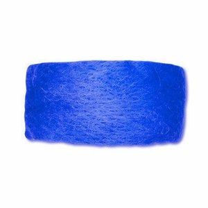 Wolband 7 cm breed blauw per rol