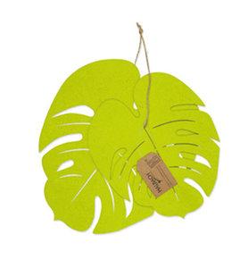 Vilt monstera bladeren fel groen 2 stuks per set