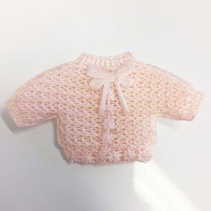 Decoratie baby vestje roze 2 stuks per zakje