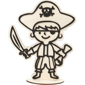 Houten figuur piraat op te bewerken