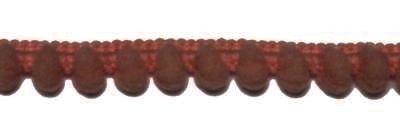 Pom pom band, Bruin 10 mm breed per meter