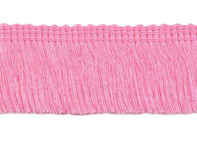 Franje band roze 30 mm breed, per meter