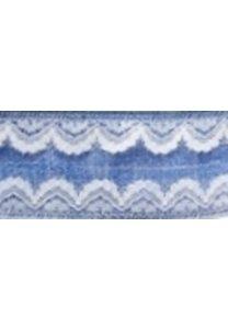 Linnen band met kant Donker Blauw 38 mm breed per meter