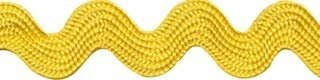 Zig zag band 10 mm breed geel per meter
