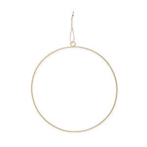 Metaal Ring Goud met ophang oog, 35 cm