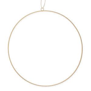Metaal Ring Goud met ophang oog, 50 cm
