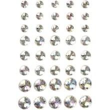 Strasstenen wit 6,8,10 mm 40 stuks op kaart